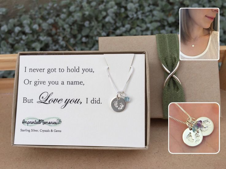 Miscarriage Necklace Loss Of Baby TINY Sterling Silver