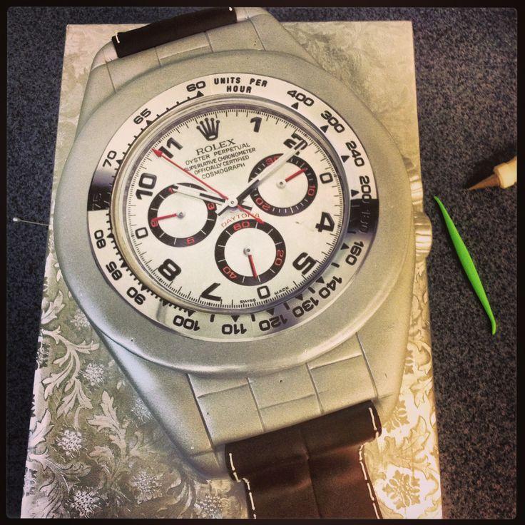 Rolex Watch Cake Annacakes Com Birthday Cakes
