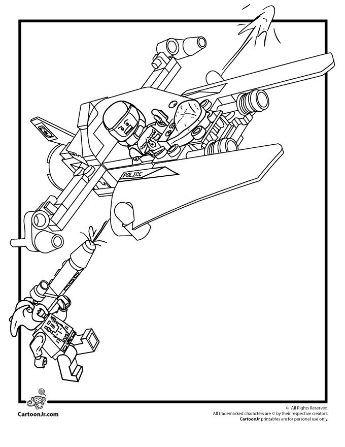 lego coloring pages lego space police coloring page