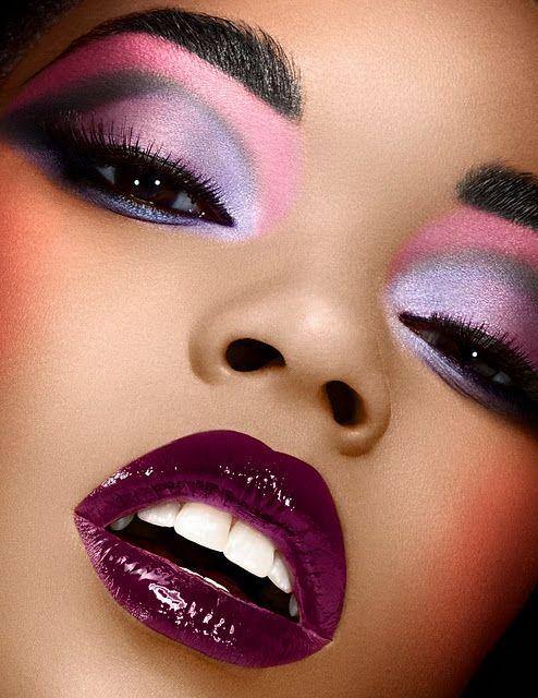 Bold & Beautiful color make up on darker skin tones pretty ...