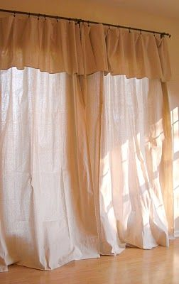 canvas drop cloth curtains for winter (a la pottery barn) I have these for my beach bathroom shower curtain. and my bedroom