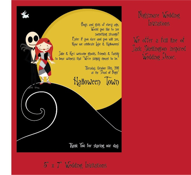 Party Invitation Printable Jack Skellington And By
