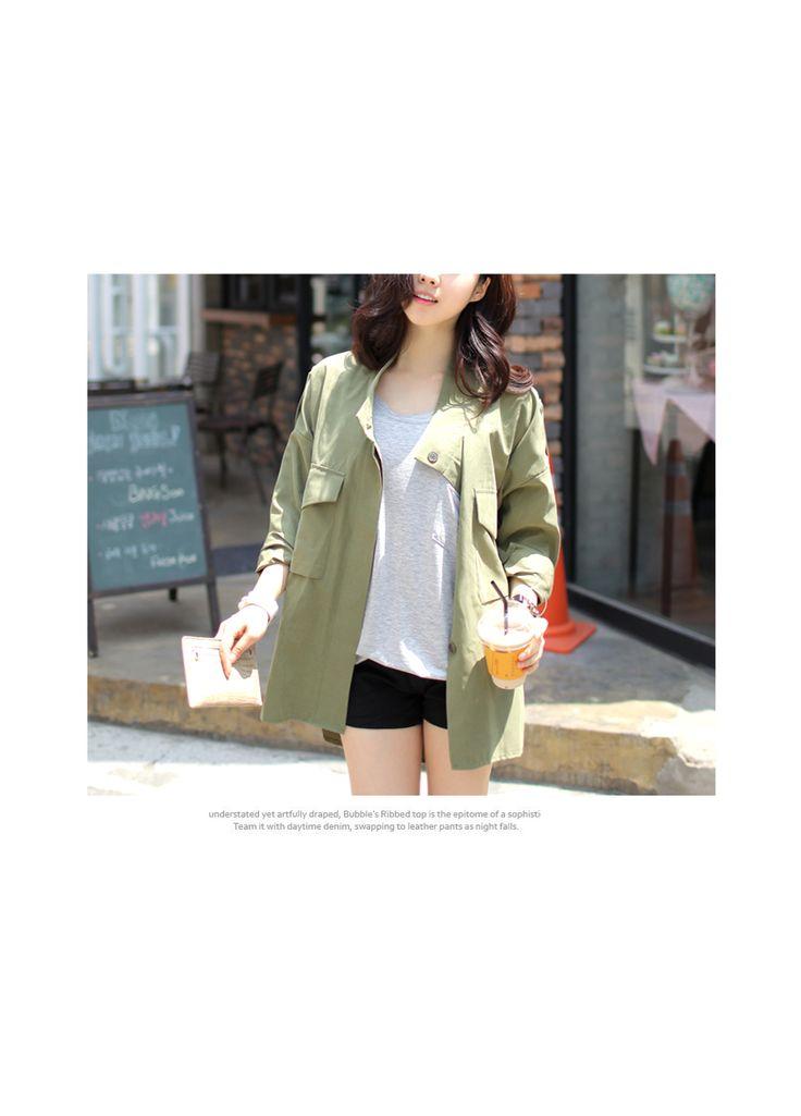 Flap Pocket Front Jacket Lovemark YESSTYLE Canada