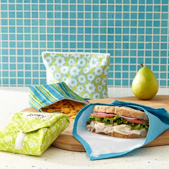 DIY Reusable Snack Bags & Sandwich Wraps. Nice! How many plastic bags will we sa