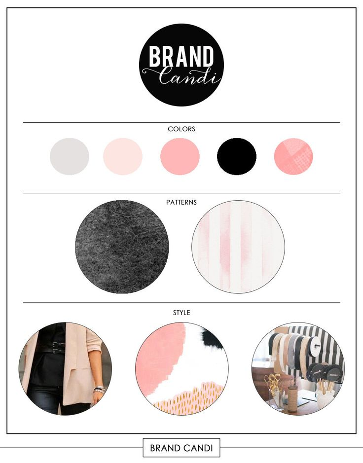 INSTANT DOWNLOAD Brand Board Template Style Board Logo Board Mood Board Brand Board