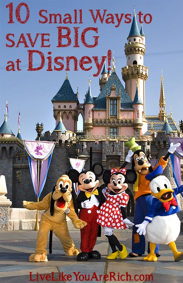 How to Save Money on a Disney Vacation- awesome tips from a Disney