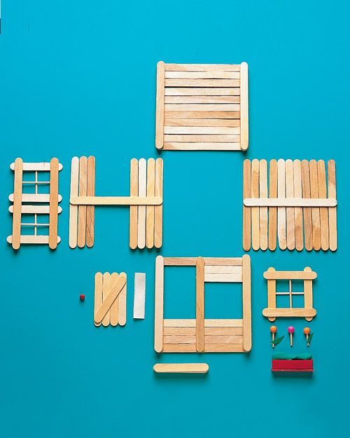 Popsicle Stick House | Step-by-Step | DIY Craft How Tos and Instructions| Martha Stewart