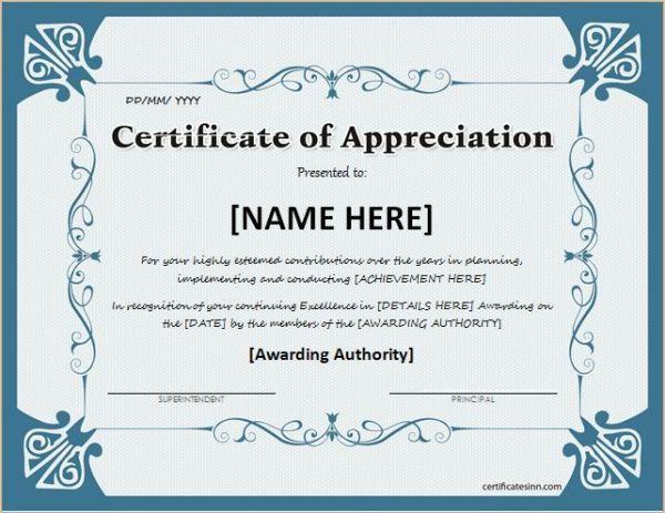 Best 25+ Certificate of appreciation ideas only on ...