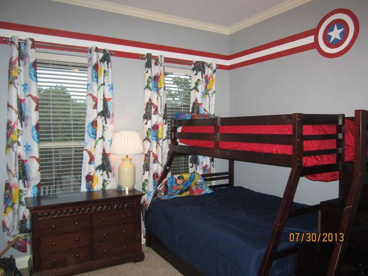 Super Hero Room Target Bed Sheet Curtains Kids