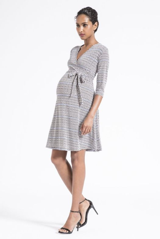 Maternity Classics | Perfect Wrap Mini in Millenium Diamond - Leota