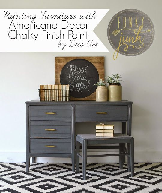 Painting Furniture With Deco Art Chalky Finish Paint