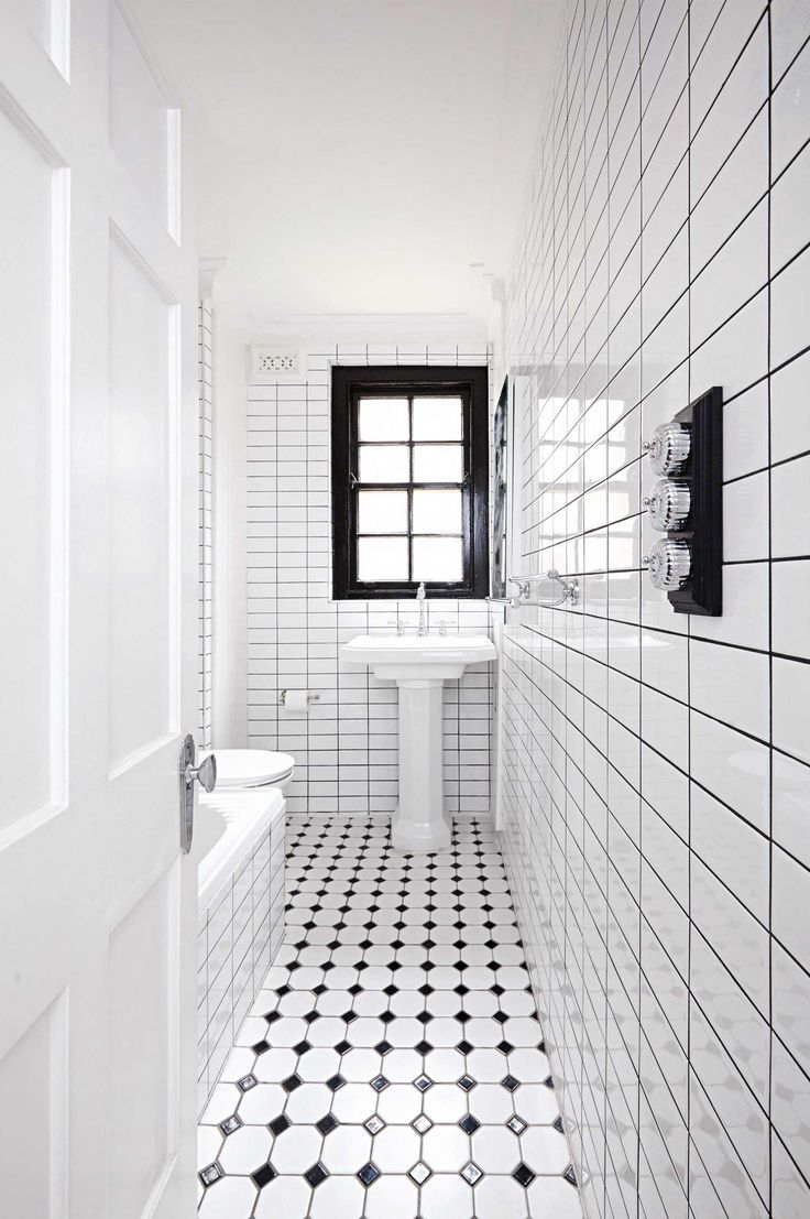 Small black and white bathroom renovation from insideout ...