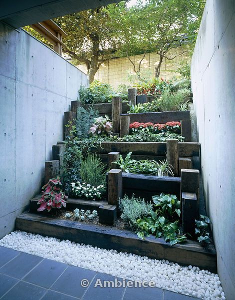 14 best images about Tiered gardens on Pinterest | Small ... on Tiered Yard Landscaping id=23243