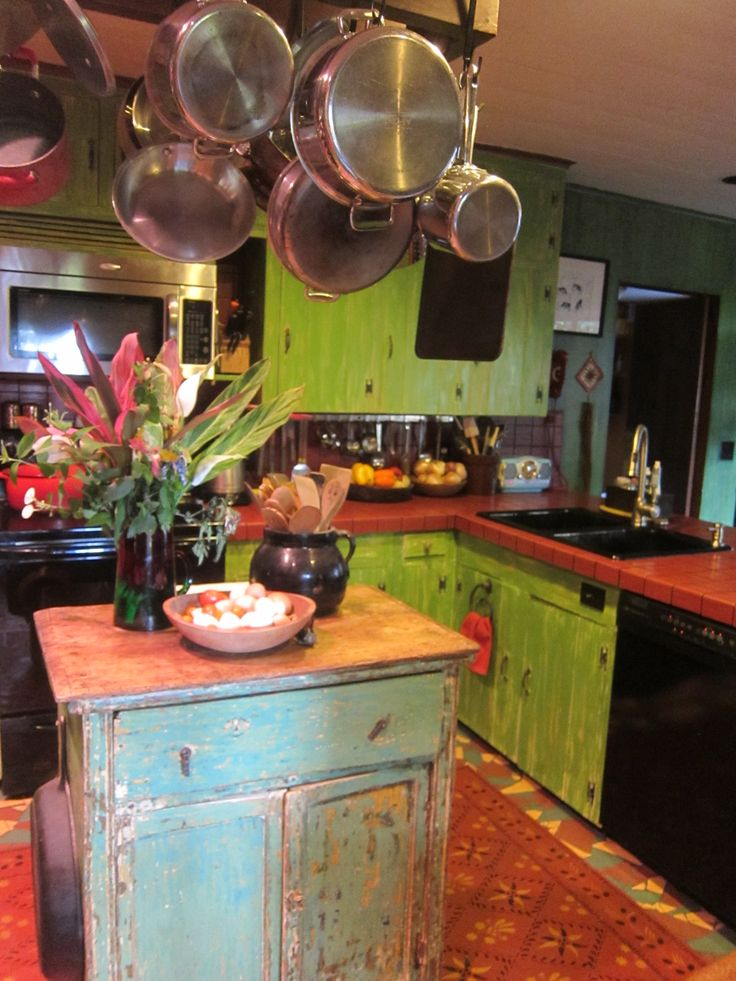 429 best kitchens boho styles images on pinterest on hippie kitchen ideas boho chic id=87155
