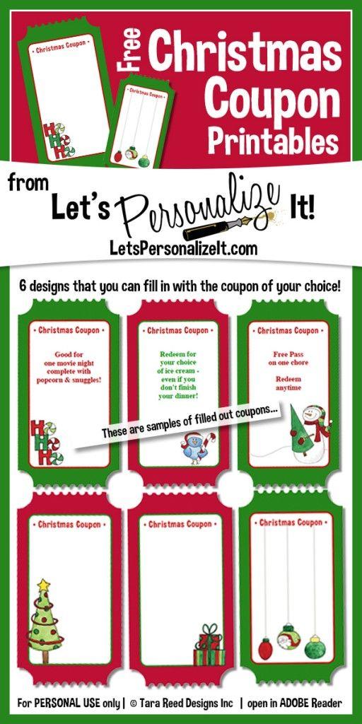 Coupon Book Ideas Christmas