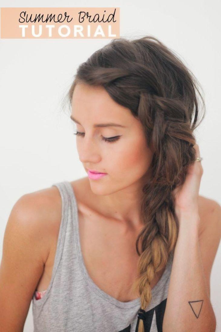 One Sided Braid  Fashion Tips u Tricks  Pinterest