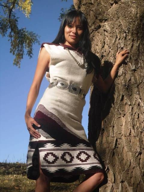 Traditional Navajo Wool Dress by: Genevieve Hardy