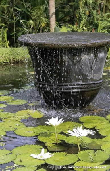 outdoor water fountain garden pond 130 best GARDEN PONDS AND FOUNTAINS images on Pinterest
