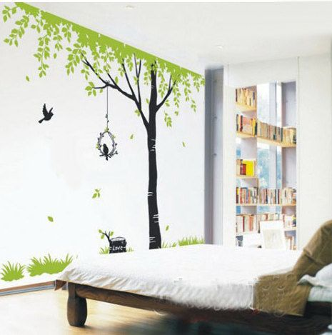 tree wall decals kids wall art nature wall stickers wall on wall stickers for kids id=56774