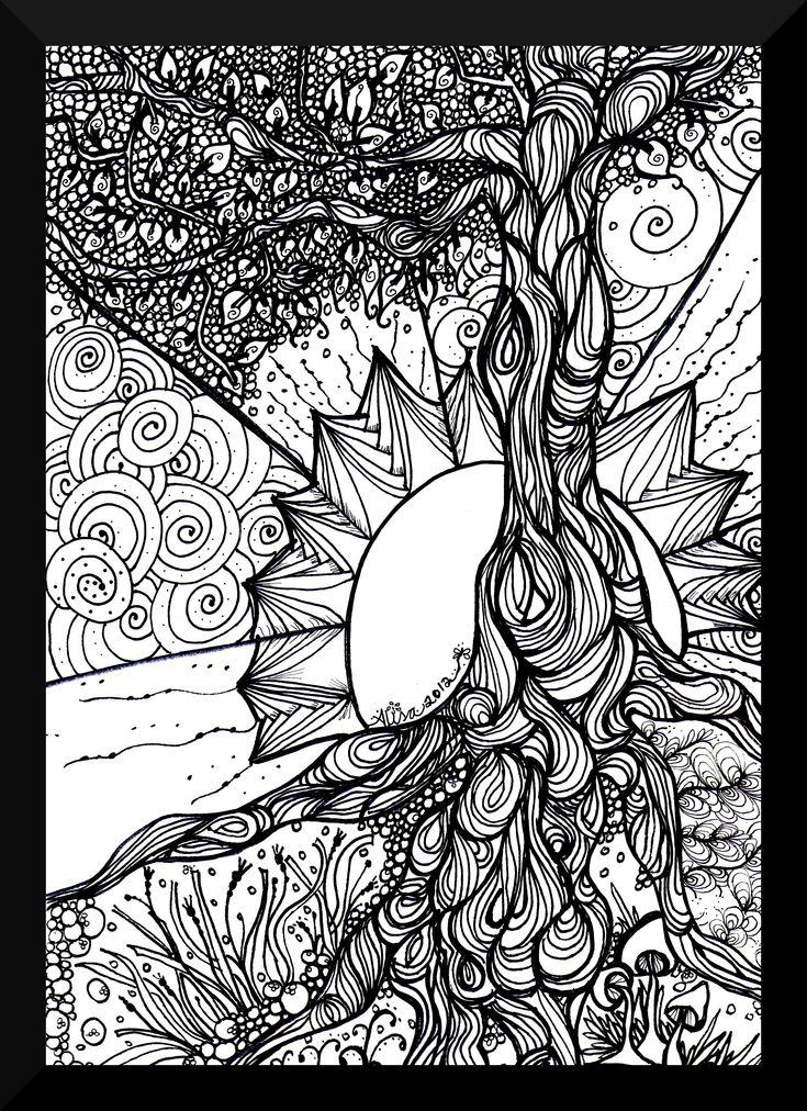 Tree Tangle The Art Colony Art Ideas Pinterest
