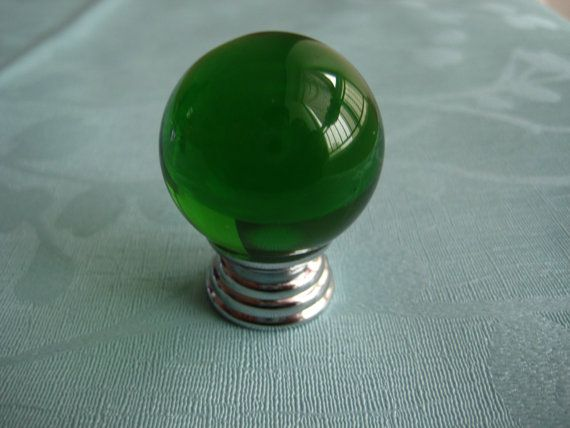 Green Knobs Glass Dresser Knob Crystal Knob Drawer Knobs