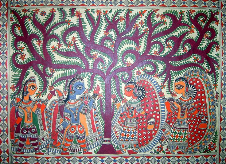 Image Result For Contemporary Madhubani Painting