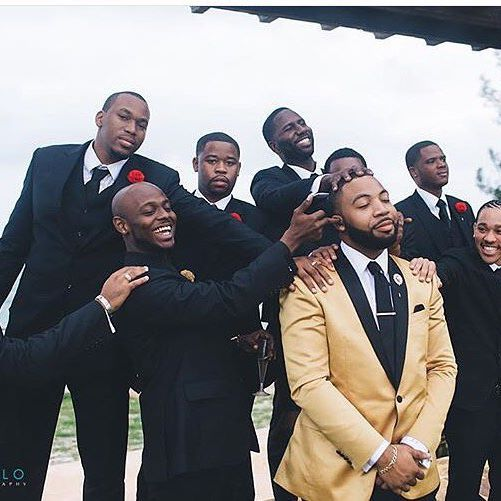 When Your Groomsmen Play Too Much Photo By