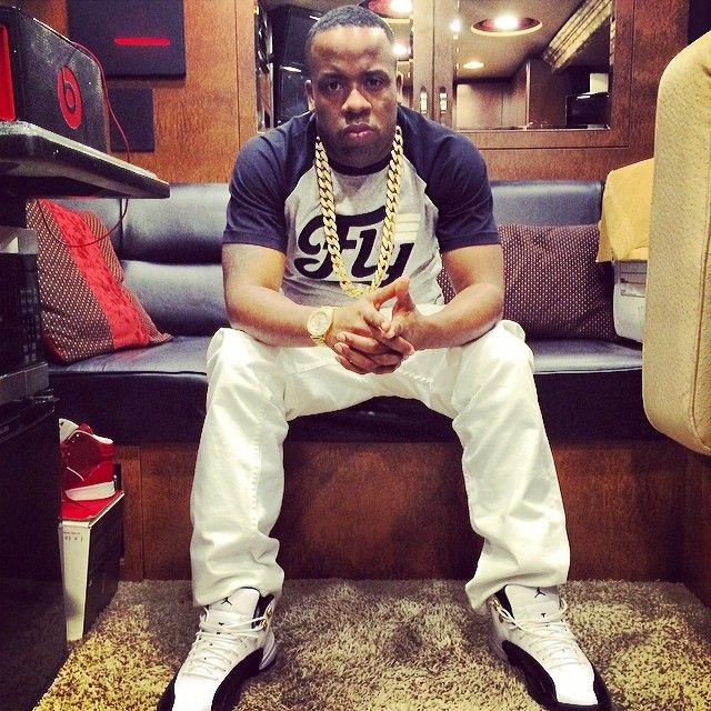 Yo Gotti Wearing Air Jordan 12 Taxi Celebrity Kicks