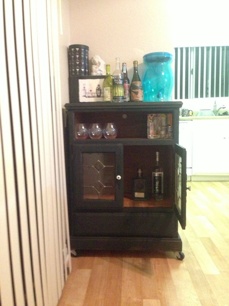Dresser Turned Into Liquor Cabinet What Happens When I M