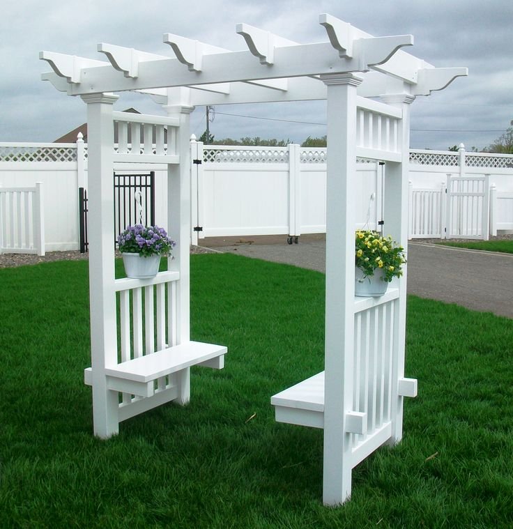How To Build A Vinyl Bench And Railing And Arbors