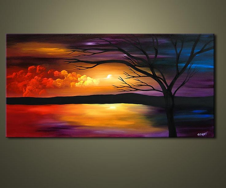 Original Abstract and Landscape Paintings
