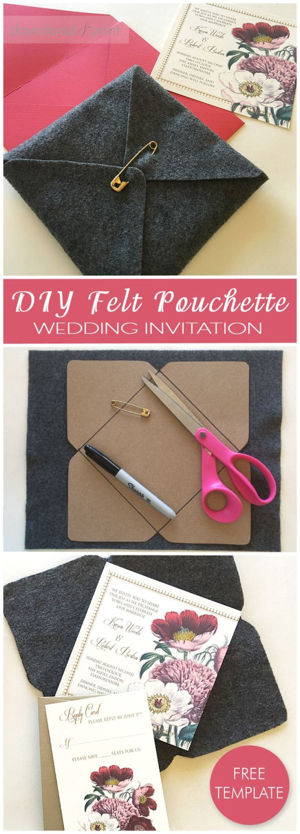 Grab the free pouchette template and make pouches for your ...