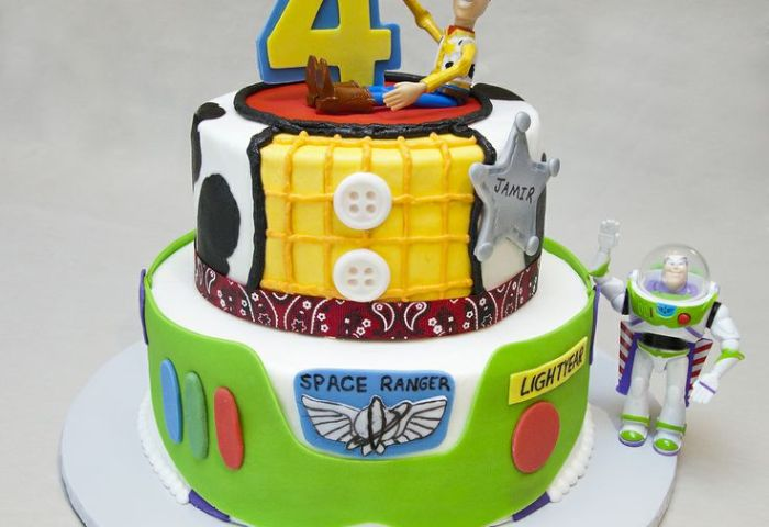 Birthday 072 Toy Story Birthday Cake For Four Year We Know How To