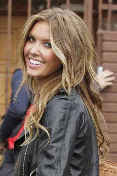 Light  brown  hair  with blonde hilites Going this color