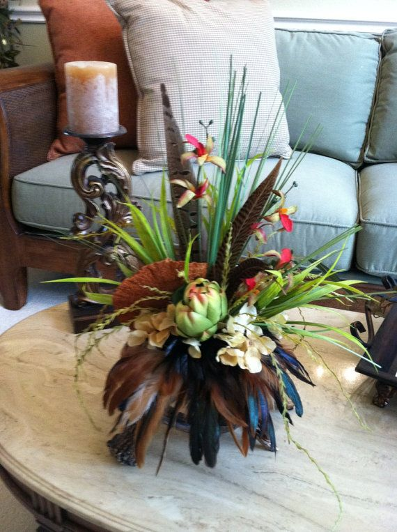 Deer Antler Arrangement Faux Floral Arrangement Made On