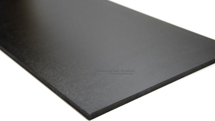 Matte Black Porcelain Tile Tiledaily Kitchen Surfaces