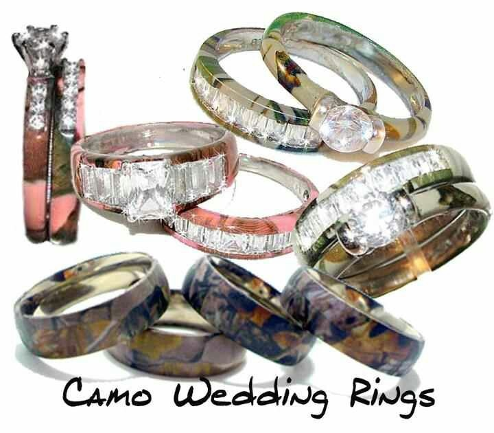 Camo Wedding Rings For Him And Her Simple Cheap Camo