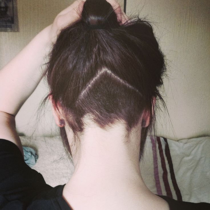 Cute triangle undercut at nape hair pinterest i