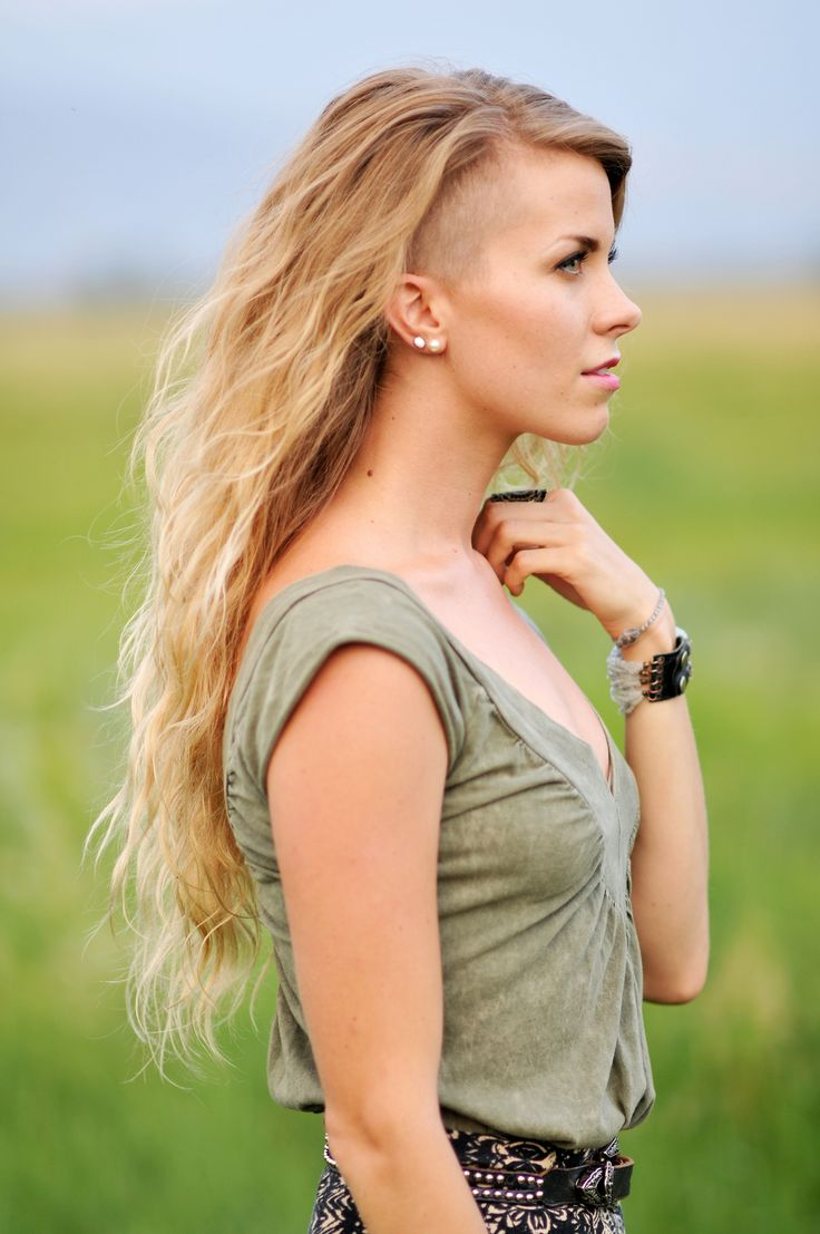 25 Best Ideas About Long Shaved Hairstyles On Pinterest