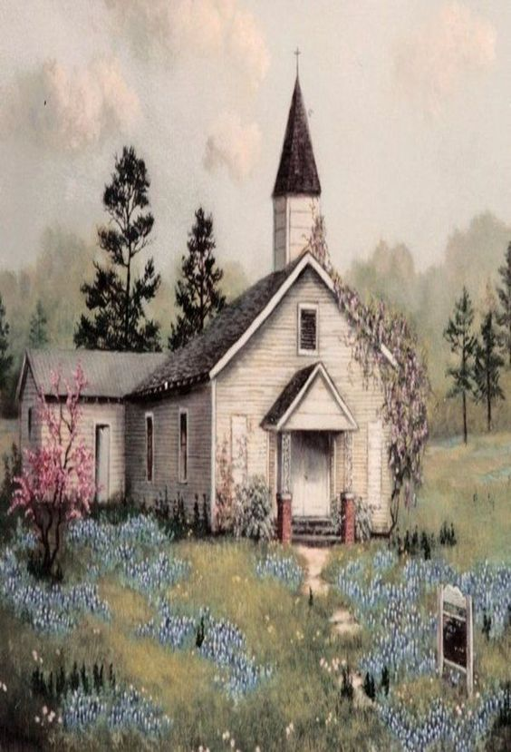 387 Best Images About Art Churches On Pinterest Canvas Art Paintings Church And Acrylics