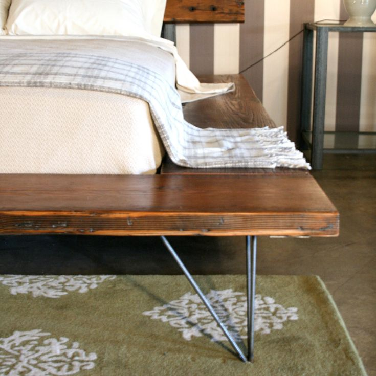 Reclaimed Wood Platform Bed Frame Handmade Sustainably