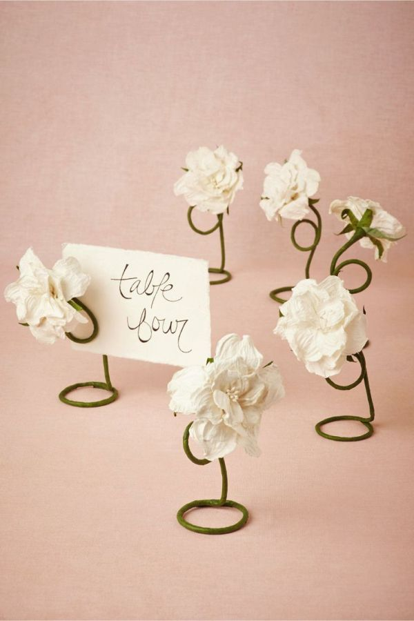 Petaled Place Card Holders (6) from BHLDN | Wedding ...