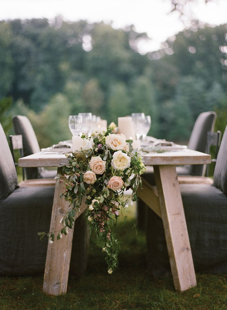 Romantic Blush And Gray Wedding Inspiration Tablescape