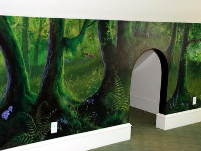 Enchanted Forest Playroom Mural Ideas Projects To Try Pinterest Trees Paint And Murals