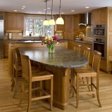 13 best images about kitchen islands with attached tables on pinterest baking tins pan on kitchen island ideas kids id=17169