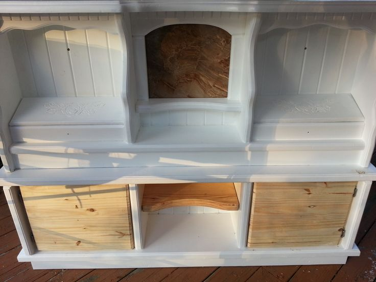 Waterbed Headboard Upcycle Made A Bottom Hutch And