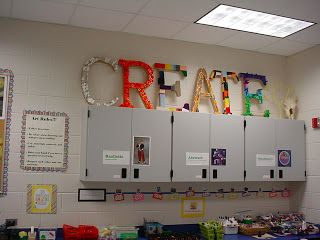 CREATIVE Classroom. This is an art room, but I love many of the ideas here for a