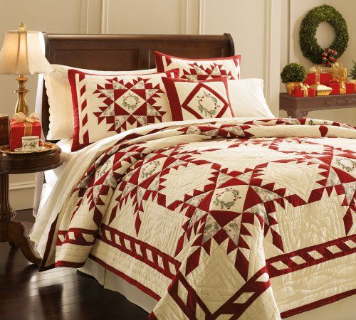 Lenox Holiday Gathering Full Queen Quilt Christmas