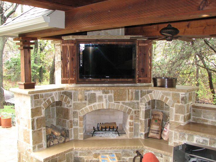 Rustic Outdoor Storage Cabinets With Doors Above Fireplace