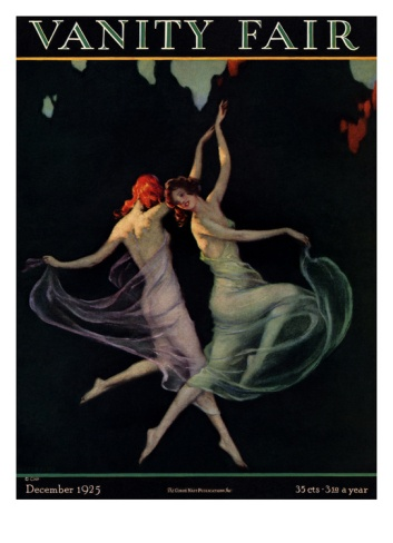 Vanity Fair Cover - December 1925 Giclee Print by Warren Davis at Art.com